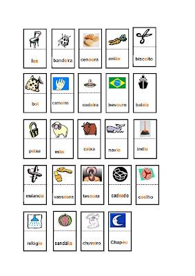 DominoORTOGRAFICOencVOC Page 2 Dominó ortográfico para crianças