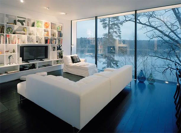 Architecture Homes Ultramodern hillside house design with