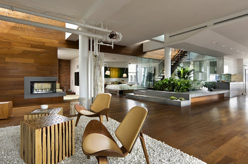 Loft In Penthouse In Nolita Section Of Manhattan With Central Light Well  And Garden. Loft Interior Design Is A World Apart From Interior Design For  A Home ...