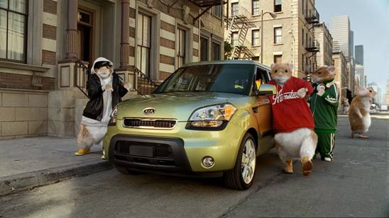 The new advertising campaign for the 2010 Kia Soul will be top-heavy with