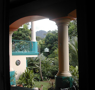 view through window, La Ceiba, Honduras