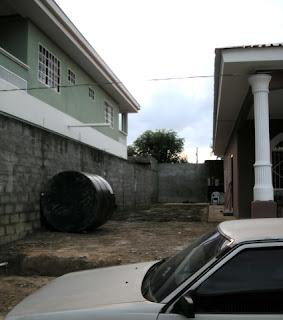 rainwater drain pipe, La Ceiba, Honduras