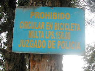 No bicycles, Tela, Honduras