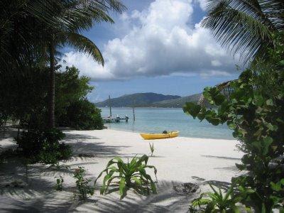 beach, Guanaja, Honduras