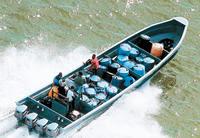 Drug boat, La Mosquitia, Honduras