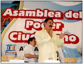 Manuel Zelaya, poder ciudadano asamblea