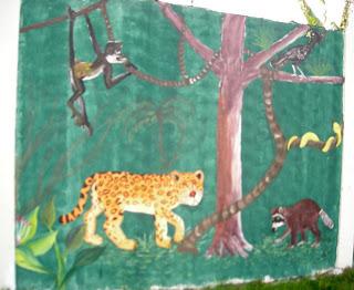 mural, El Porvenir, Honduras