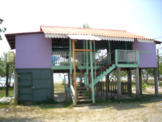 bar on the beach, El Porvenir, Honduras