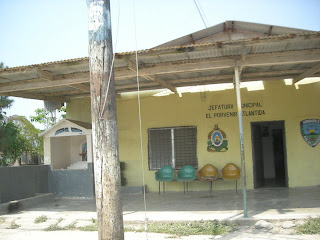 municipal building, El Porvenir, Honduras