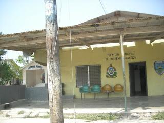municipal building, El Porvenir, Honduras