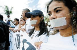 media intimidation, Honduras