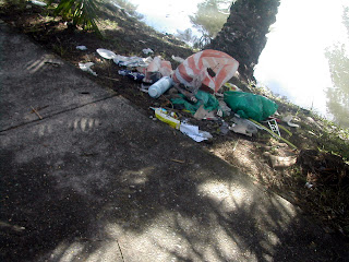 trash on the street, Honduras