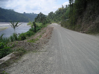 Road along the Cangrejal River, Honduras