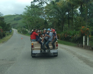fully loaded pickup, Copan Ruins, Honduras