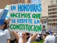 We respect the constitution in Honduras