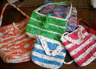 recycled plastic bag bags