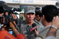 Gen. David Petraeus speaks to reporters in Sab al Bor, Iraq, in March. Petraeus has been nominated to lead United States Central Command. (U.S. Army photo)