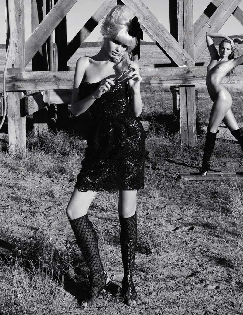 death pussy ... torture and tackle love and death. Stylist Julia von Boehm kits the  models out in a selection of sexy cocktail dresses, hot-pants and boots.