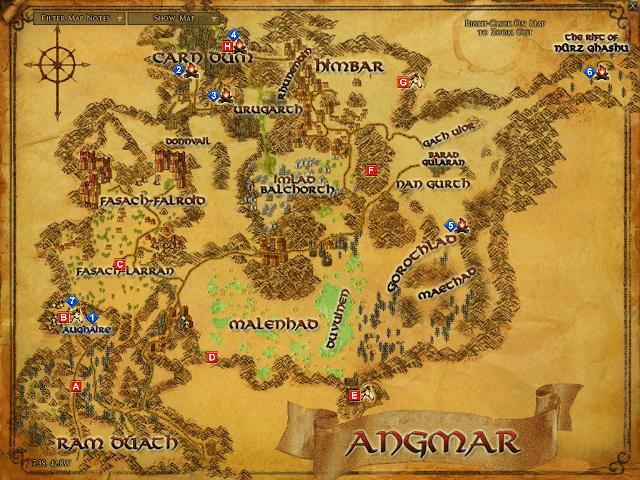 Angmar Map LOTRO