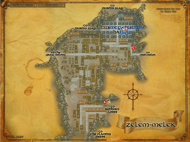 Lord of Rings Map of Zelem-melek