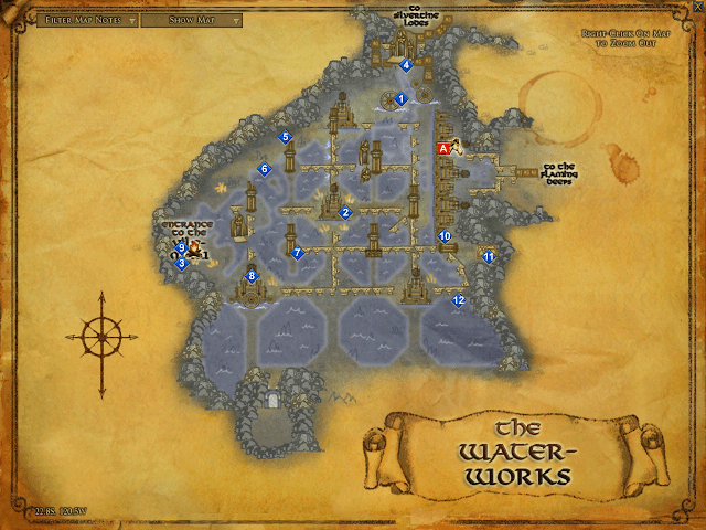 Lord of Rings Map of The Waterworks