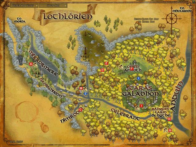 LOTRO Lothlorien map