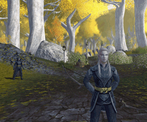 LOTRO Lothlorien Galadhrim scouts guard the Golden Wood