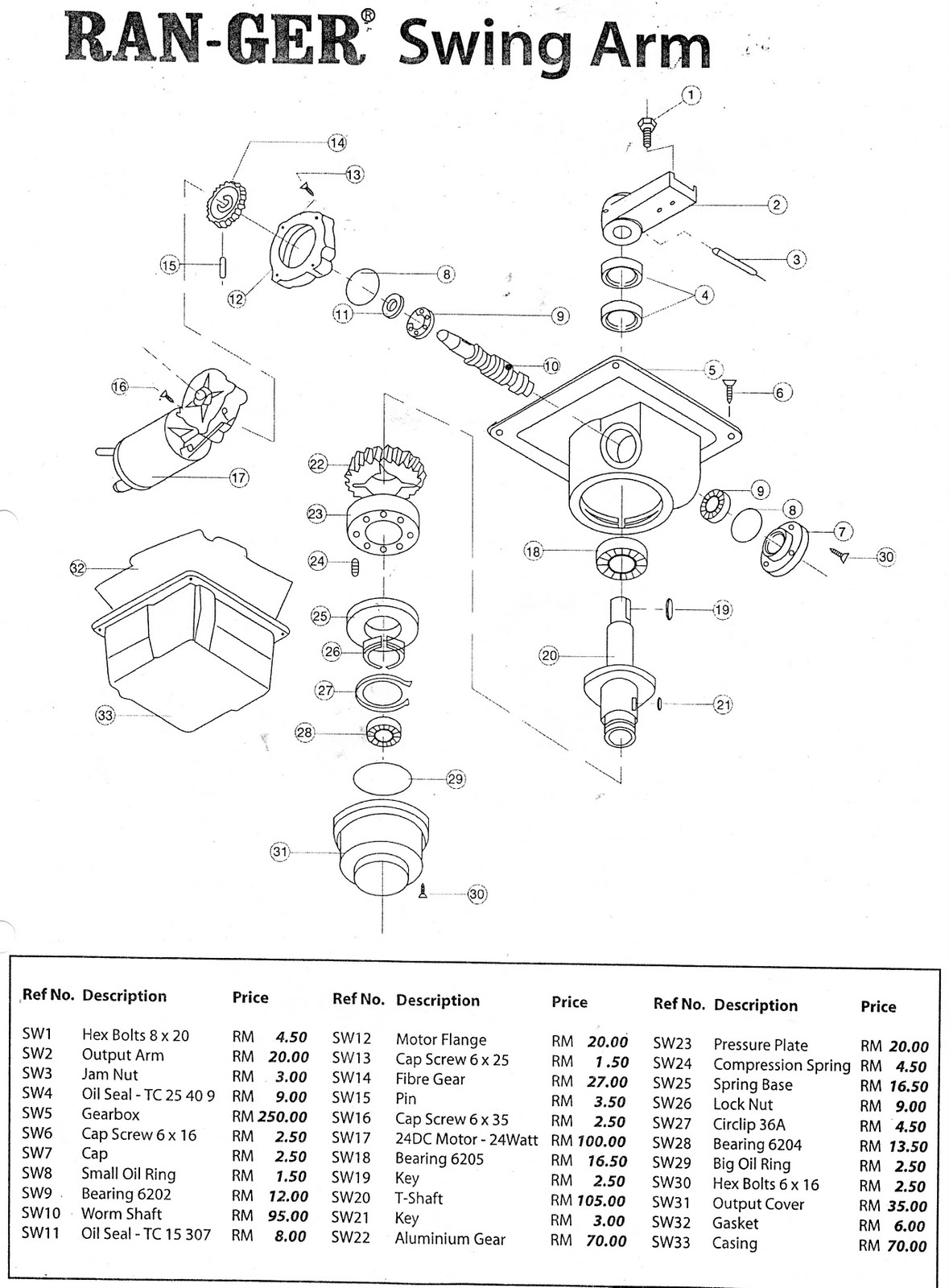 Autogate malaysia repairs spare parts readily available for underground systems parts list for gate systems ranger good 1 signal mag and west gate are readily available as per the diagram below cheapraybanclubmaster Choice Image