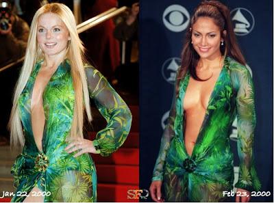 Jennifer Lopez Versace on 5geri Halliwell Jennifer Lopez Versace Spring 2000 Gown Jpg