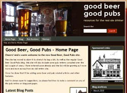 Link to the new Good Beer, Good Pubs website