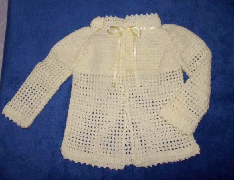 Tejidos en crochet y dos agujas: Saco de bebé