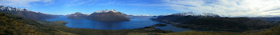 My New Zealand Vacation, Queenstown, Lake Wakatipu, Pano143