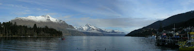My New Zealand Vacation, Queenstown, Lake Wakatipu, Pano17a