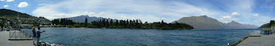 My New Zealand Vacation, Queenstown, Lake Wakatipu, Pano93