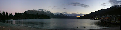 My New Zealand Vacation, Queenstown, Lake Wakatipu, Pano173a