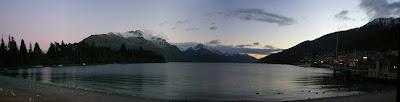 My New Zealand Vacation, Queenstown, Lake Wakatipu, Pano173a