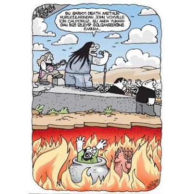 Death metal karikatür