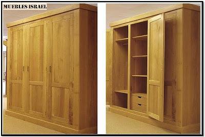 Mimbres y muebles rusticos y finos armarios closets for Closet rusticos