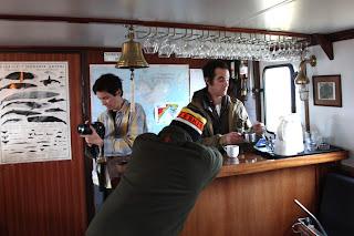 On board the Noorderlicht's upper salon