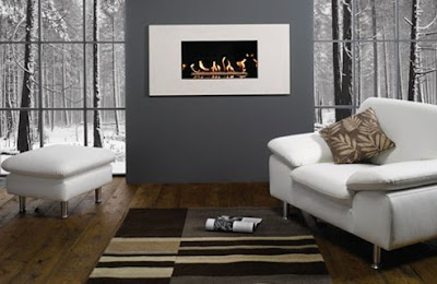Fire As Focal Point In Modern Living Room, Best Modern Living Room Furniture - Livining Room Decorating