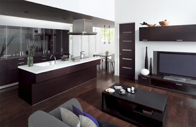 Combination Kitchen and Living Room Design, Best Living Room Design - Top Living Room Interior Design