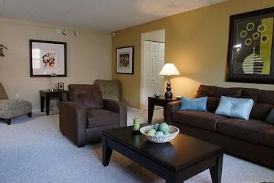 Living Room Interior Design, Chestnut Hill Village Apartments- Living Room Interior