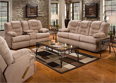 Stratolounger Camelot 3 pc Sleeper Sofa Living Room Set