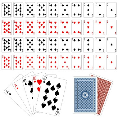 Tattoo playing cards. Istockphoto - Playing cards 55 EPS High Quality Vector