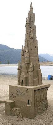 Um verdadeiro castelo de areia