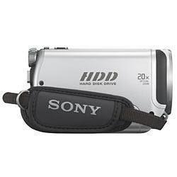 Sony DCR-SR42 vista pelo lado da alça de suporte