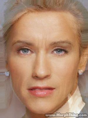 Morph de Arnold Schwarzenegger com Christina Aguilera.