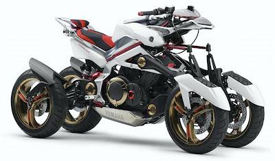 Motocicleta conceito Yamaha Tesseract