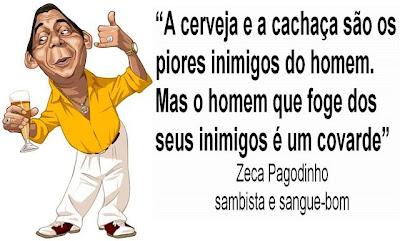 Caricatura de Zeca Pagodinho