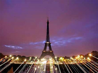 París Foto profissional da Torre Eiffel na Paisagem